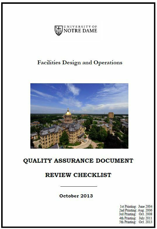 Quality Assurance Deliverables Checklist 2014