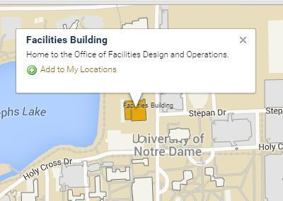 200 Facilities Building, Notre Dame, IN