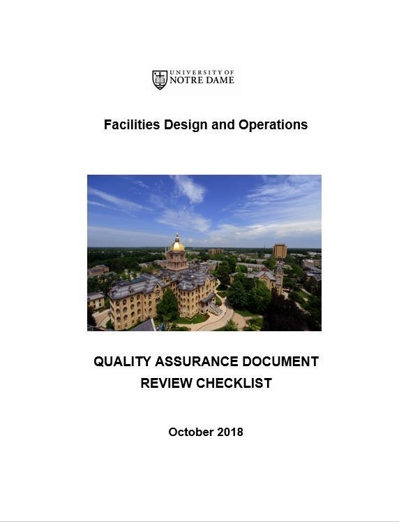 Quality Assurance Document Review Checklist October 2018